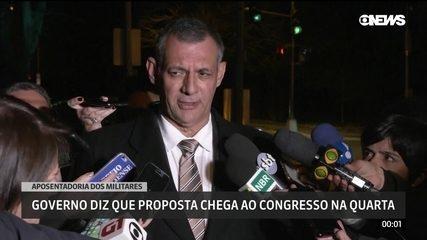 Governo diz que proposta de aposentadoria dos militares chega ao Congresso na quarta-feira