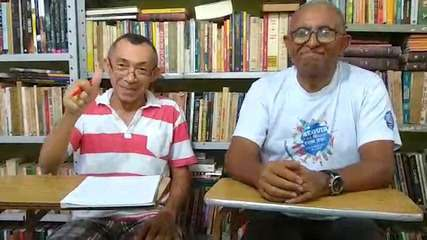 Severino e Geraldo comentam como está a biblioteca comunitária