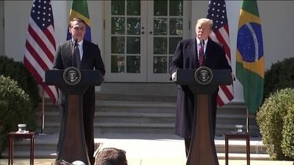 Trump diz que EUA e Brasil têm oportunidade histórica de reforçar os laços