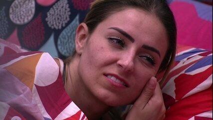 Paula diz que Rízia não dorme mais e Alan aponta motivo: 'Alberto'