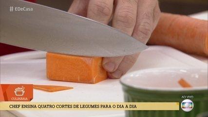 Como fazer cortes diferentes de legumes para incrementar receitas