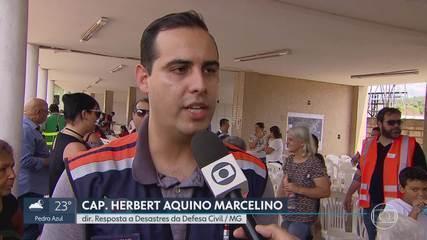 Moradores de Barão de Cocais participam de simulado de situação de emergência