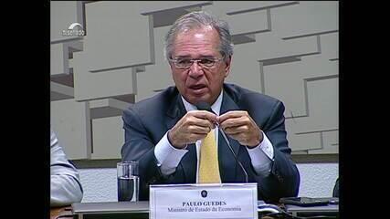 'A bola da reforma da Previdência está com o Congresso', diz Guedes no Senado