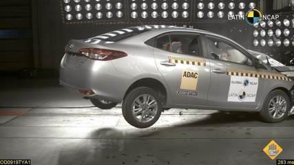 Toyota Yaris fica com 4 estrelas em teste de segurança