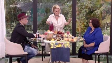 Paulo Gustavo e Dona Déa Lúcia tomam café da manhã com Ana Maria Braga