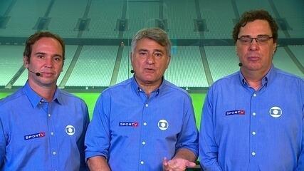 Cleber Machado, Casagrande e Caio Ribeiro analisam Corinthians x Santos