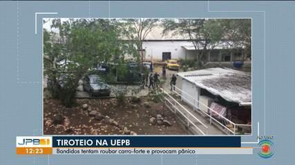 Bandidos tentam roubar carro-forte e provocam pânico na UEPB