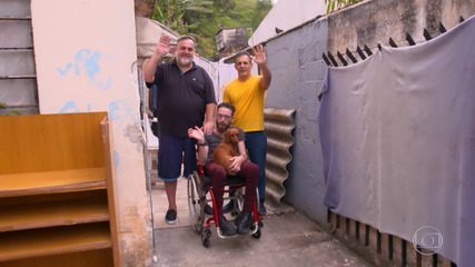Alexandre e Reinaldo participam do 'The Wall' para ajudar amigo com ataxia de Friedreich