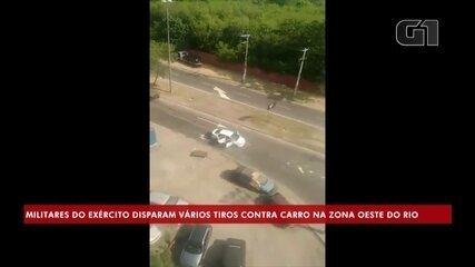 Militares do Exército disparam mais de 80 tiros contra carro na Zona Oeste do Rio