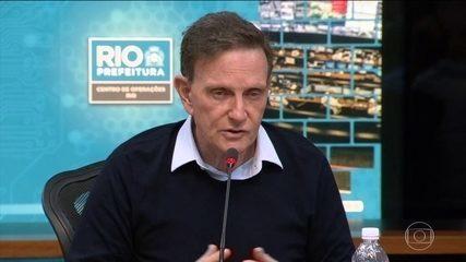 Crivella vai rever índice mínimo de chuva para sirenes darem alerta em comunidades do RJ