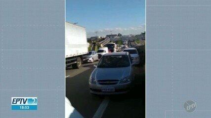 Acidente deixa motociclista com ferimentos graves na Rodovia Santos Dumont, em Campinas