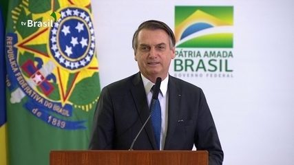 Jair Bolsonaro discursa em evento dos 100 dias de governo
