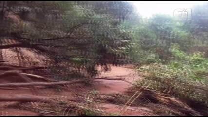 Imagens mostram deslizamento em Sobradinho II, no DF
