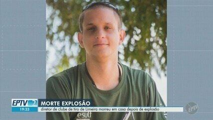 Diretor de clube de tiro em Limeira morre em casa depois de explosão