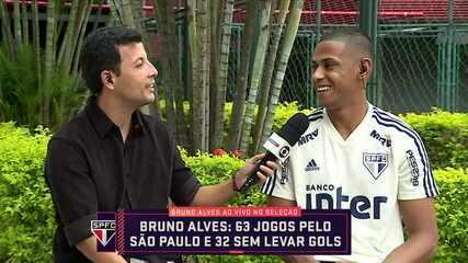 Aniversariante do dia, Bruno Alves fala sobre o bom momentos no São Paulo