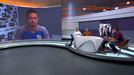 Jean Motta fala sobre nascimento do filho, vitória sobre o Vasco na Copa do Brasil e momento do Santos