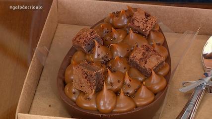 Ovo de Brownie Para Comer de Colher é receita do Cozinha de Galpão