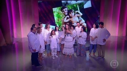 Ivete recebe homenagem especial da família 'Sangalo'