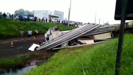 Motorista morre em acidente na BR-277