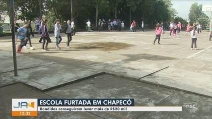 Criminosos furtam escola e levam mais de R$ 20 mil em Chapecó