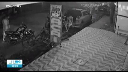Câmeras de segurança filmam execução ocorrida no distrito de Icoaraci, em Belém