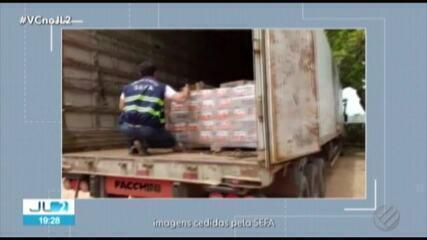 Mais de 19 mil caixas de leite condensado são apreendidas em Marabá, no Pará