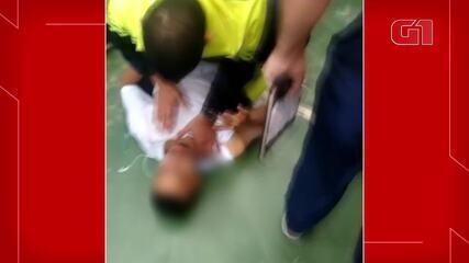 Vídeo mostra policial militar derrubando aluno de escola pública em Ceilândia, no DF
