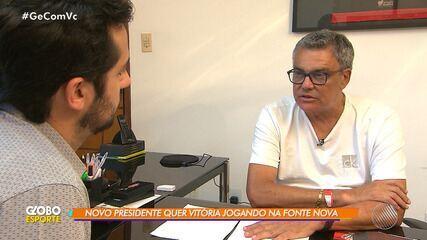 Paulo Carneiro fala sobre planos após assumir a presidência do Vitória