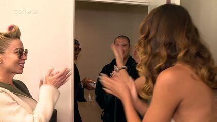 Diogo Nogueira e Ludmilla ganham festa surpresa nos bastidores do 'Show dos Famosos'