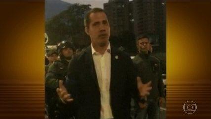 Juan Guaidó se une a militares para derrubar regime de Nicolás Maduro