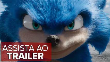 """Veja 1º trailer de """"Sonic"""", que teve o visual do bichinho criticado"""