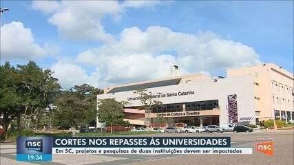 Cortes nos repasses às universidades devem impactar em instituições de SC