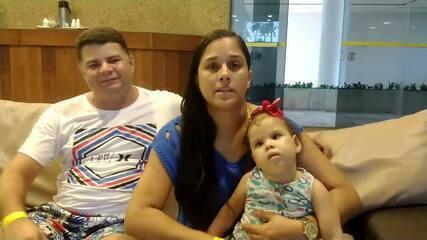 Pais de menina que recebeu transplante de coração agradecem gesto solidário da família de Enzo