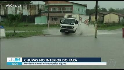 Fortes chuvas atingem região nordeste do Pará