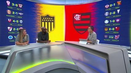 Comentaristas falam da classificação do Flamengo diante do Peñarol