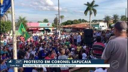 Moradores de Coronel Sapucaia protesta contra falta de segurança