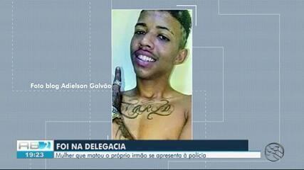 Suspeita de matar irmão se apresenta à delegacia em Caruaru