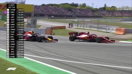 Vettel passa de passagem por Gasly durante o GP da Espanha