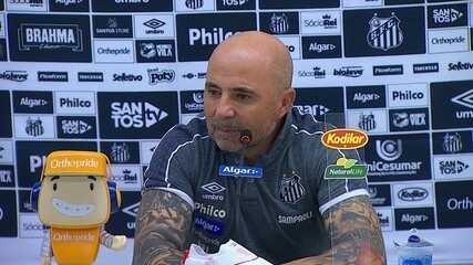 Veja a entrevista do técnico do Santos, Jorge Sampaoli, após vitória sobre o Vasco