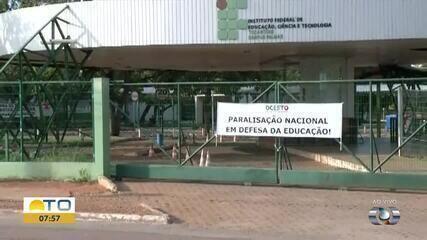 Comunidade acadêmica do IFTO paralisa atividades em manifesto contra medida do governo