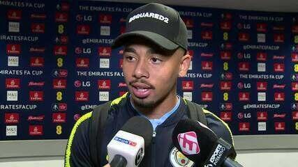 Veja a entrevista de Gabriel Jesus após a conquista da Copa da Inglaterra com o City