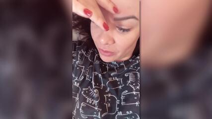 Fernanda Souza mostra bagunça de Thiaguinho