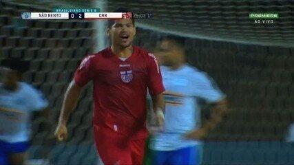 Os gols de São Bento 1 x 2 CRB, pela 6ª rodada da Serie B do Brasileiro
