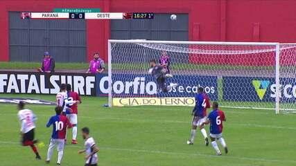 Melhores momentos: Paraná 0 x 0 Oeste pela 6ª rodada da Série B do Brasileiro