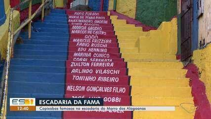 Capixabas famosos têm nomes registrados na escadaria do Morro dos Alagoanos, em Vitória