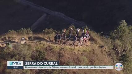 Homem cai de cerca de 50 metros ao praticar modalidade de slackline na Serra do Curral