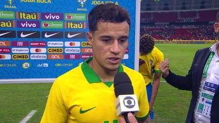 Coutinho vence prêmio de craque do jogo diante de Honduras e enaltece trabalho da Seleção Brasileira