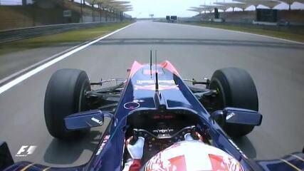 Sebastien Buemi perde a as rodas no GP da China