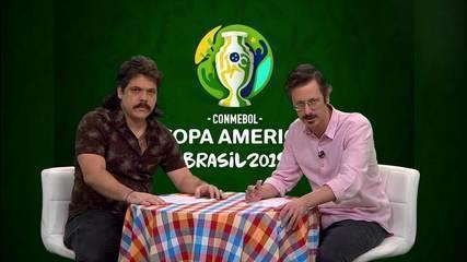 Primeira chamada do Falha de Cobertura para a estreia do Brasil na Copa América
