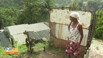 Chuva preocupa moradores de áreas de morro em Olinda